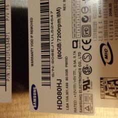 HDD PC Samsung 80 GB Sata II - Hard Disk Samsung, 40-99 GB, Rotatii: 7200, SATA2, 8 MB