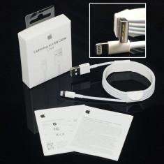 Cablu Original Apple lightning USB date incarcare Iphone 5 5s 6 6s 7 NOU Sigilat