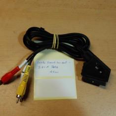 Cablu Scart In-Out - 3 RCA Tata 1, 4 m
