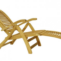 Scaun reglabil de lux din lemn masiv Hecht Camberet Lounger, Max 160 Kg