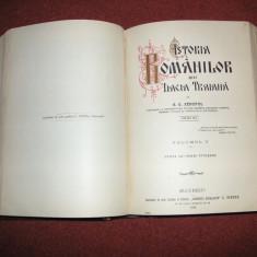 A. D. Xenopol Istoria romanilor din Dacia Traiana - VOL. 1, 2, 3, 4, 5 - 1913 - 1914 - Carte veche