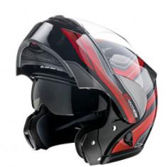 Casca Scooter/Motocicleta modulara, flip-up, multicolor Zeus H006 - Casca moto, Marime: XL