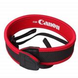 Curea de umar rosie din neopren pentru aparat foto EOS Canon