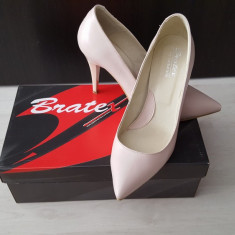 Pantofi stiletto nude - Pantof dama, Marime: 38