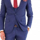 Costum tip ZARA - sacou + pantaloni + vesta - costum barbati 8140, Marime: 54, Culoare: Din imagine