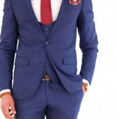Costum carouri - sacou + pantaloni + vesta - costum barbati 8140, Marime: 54, Culoare: Din imagine