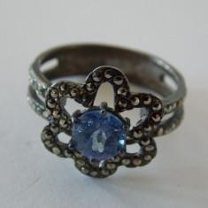 Inel argint cu zirconiu si marcasite -2044