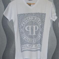 Tricou Philipp Plein pentru barbati S, M, L, XL, XXL model 2017 100% bumbac - Tricou barbati Dsquared2, Culoare: Alb, Maneca scurta