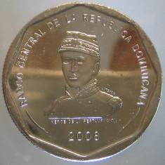 REPUBLICA DOMINICANA KM#107 - 25 Pesos 2008 UNC, America Centrala si de Sud