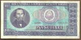 BANCNOTA 100 LEI 1966 AUNC (serie 606130)