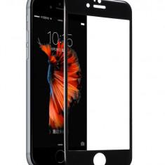 Tempered glass, Hoco, cu rama din ploicarbonat negru, pentru iPhone 6/6s - Husa Telefon