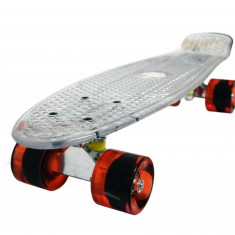 Penny board, Mad Abec-7, Crystal Clear - Skateboard, Marime: 22