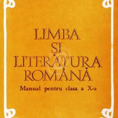 Limba si literatura romana - manual pentru clasa a X-a (1985) - Manual scolar didactica si pedagogica, Clasa 10, Didactica si Pedagogica