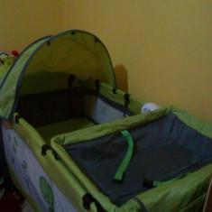 Patut pliabil - Patut pliant bebelusi Coto Baby, 120x60cm, Verde