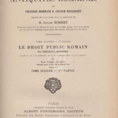 Manuel des Antiquites Romaines. Le droit public romain, vol. I