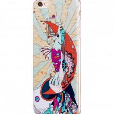 Flip Cover, Hoco, Element Series Mythology Painted , pentru Apple Iphone 6 plus/6 s plus, Mermaid (White), Husa, Cu clapeta