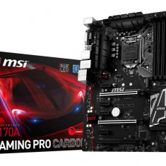 Placa de baza MSI Socket LGA1151, Z170A GAMING PRO CARBON, Intel Z170, 4 *DDR4 3600(OC)/2133MHz, DVI/HDMI, 3*PCIEx16/4*PCIEx1/1*PCI-E bulk