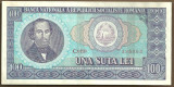 BANCNOTA 100 LEI 1966 AUNC (serie 338963)