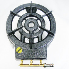 Pirostrie rotunda - Arzator gaz GPL 3 focuri 30cm - Pentru butelie