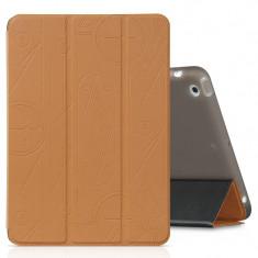 Flip Cover, Hoco, Cube series pentru iPad mini 321, Maro cu negru - Husa Tableta