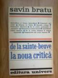 K0d De La Sainte-beuve La Noua Critica - Savin Bratu