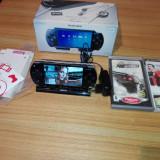 PSP Sony Modat la cutie cu dock, accesorii & jocuri originale