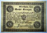 92. AUSTRIA 6 KREUZER 1849