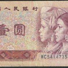 CHINA - BANCNOTA 1 YUAN 1980 VF - bancnota asia