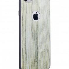 Carcasa Hoco, Element Series Wood Grain, pentru Apple Iphone 6 plus/6 s plus, Whiteoak - Husa Telefon