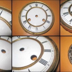 Cadran ceas pendul vechi anii 1900 cu 2 chei.