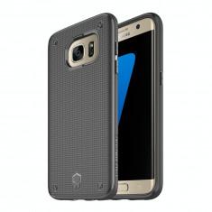 Carcasa, Patchworks, FlexGuard Case w/ Poron XRD Tech, pentru Samsung Galaxy S7 Edge, neagra