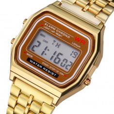 Cumpara ieftin Ceas Casual Vintage MODEL RETRO ANII 80 Gold Silver Gold Black NOU
