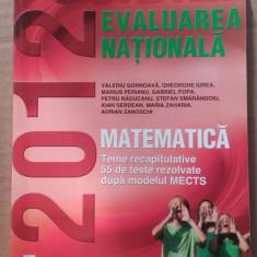 Evaluarea nationala, matematica - teme recapitulative - Carte Teste Nationale
