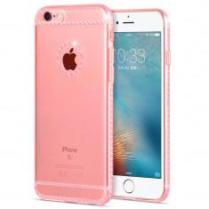 Carcasa, Hoco, Ice Crystal series pentru iPhone 6/6s, Rose Gold - Husa Telefon