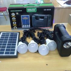 Kit panou solar fotovoltaic 4 becuri USB incarcator telefon lanterna