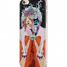 Flip Cover, Hoco, Element Series Mythology Painted , pentru Apple Iphone 6 plus/6 s plus, Dogz (Black), Husa, Cu clapeta