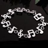 Bratara Fashion Cu Tema Muzicala Placata Cu Argint - Note Muzicale