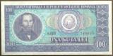 BANCNOTA 100 LEI 1966 AUNC (serie 749025)