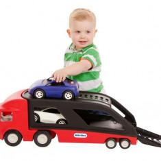 Transportor Masini Rosu - Masinuta electrica copii Little Tikes