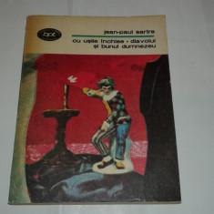 JEAN PAUL SARTRE - CU USILE INCHISE \ DIAVOLUL SI BUNUL DUMNEZEU - Roman, Anul publicarii: 1981