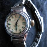 Ceas vintage de dama, Laurens 17 rubine, bratara inox, functional. - Ceas dama, Mecanic-Manual