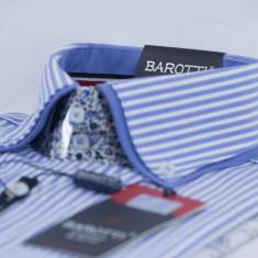 Camasa barbati eleganta - tip zara - in dungi alba cu albastru - slim fit casual