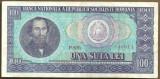 BANCNOTA 100 LEI 1966 AUNC (serie 640014)