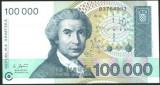 CROATIA - BANCNOTA 100.000 DINARI 1993 UNC