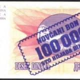 BOSNIA HERTEGOVINA - BANCNOTA 100.000 DINARI 1993 AUNC