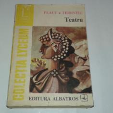 PLAUT \ TERENTIU - TEATRU ~ 4 piese ~ - Carte Teatru