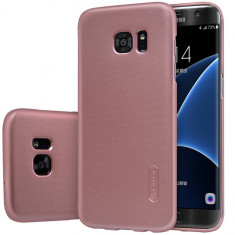 Carcasa, Nillkin, Super frosted shield, pentru Galaxy S7 Edge, rose gold