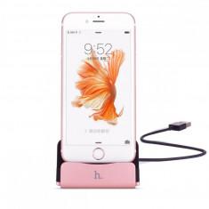 Stand incarcare, Hoco, CPH18, pentru Apple Iphone 5/5s/6/6s/6 plus/6S plus, Rose Gold - Dock telefon