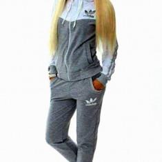 Trening ADIDAS DAMA new young model NOU 2017 - Trening dama, Marime: S, M, L, XL, XXL, Culoare: Gri, Bumbac