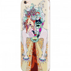 Flip Cover, Hoco, Element Series Mythology Painted, pentru Apple Iphone 6/6S, Dogz (White) - Husa Telefon